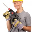 Lady construction worker — Stock Photo #3475954