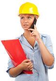 Architect or engineer lady — Stock Photo