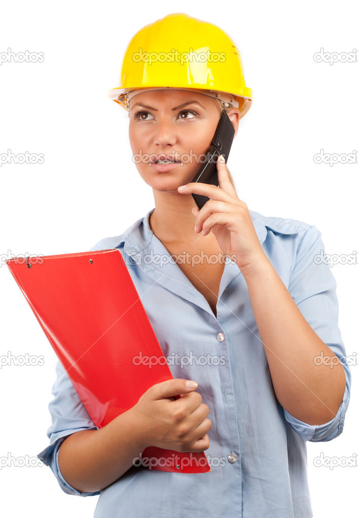 Architect Or Engineer Lady Stock Photo 169 Xalanx 3475950