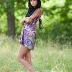 Attractive latin girl posing outdoor — Stock Photo #3506589