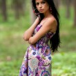 Attractive hispanic girl in the forest -  