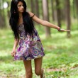 Attractive latin girl posing outdoor -  