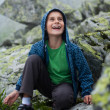 Stock Photo: Cute kid outdoor in mountains