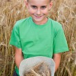 Stock Photo: Adorable child in wheat field