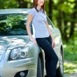 Woman with car — Stock Photo #3548799
