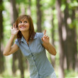 Woman in the forest — Stockfoto