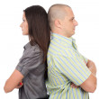 Couple standing back to back — Stock Photo