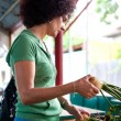 Woman buying vegetables — Stock Photo #3574476