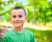 Cute little boy outdoor — Stock Photo