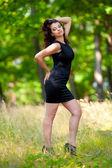 Beautiful young woman outdoor — Stock Photo