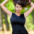 Gorgeous young lady outdoor — Stock Photo