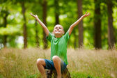 Beautiful child outdoor — Stock Photo