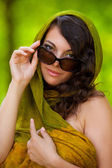 Beautiful lady outdoor — Stock Photo