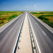 Highway under blue sky — Stock Photo