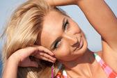 Beautiful blond lady — Stock Photo