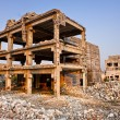 after a natural disaster - ruined buildings — Stock Photo