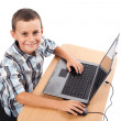Modern kid at the laptop — Foto Stock