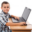 Modern kid at laptop — Stock Photo #3735628