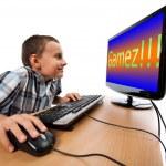 Computer game addiction concept — Stock Photo