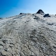 Cracked ground from muddy volcanoes in Romania - ストック写真