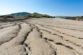 Cracked ground from muddy volcanoes in Romania — Stock Photo