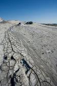 Modderige vulkanen bodem — Stockfoto