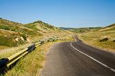 Itinerario attraversando colline — Foto Stock