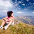 Pretty woman in an alpine landscape — Stock Photo #3785005