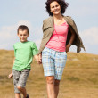 Mother and son in the mountains — Stock Photo #3785020