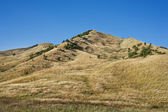 Landscape with hills in the countryside — Stock Photo