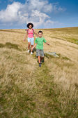 Mother and son in the mountains — Stock Photo