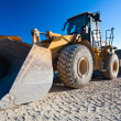 Stock Photo: Bulldozer, excavator
