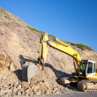 Bulldozer, excavator - Stock Photo