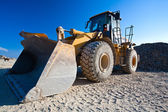 Bulldozer, excavator — Stock Photo