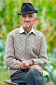 Senior man outdoor — Stock Photo