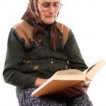 Senior woman reading — Stock Photo