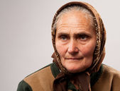 Senior woman with kerchief — Stock Photo