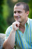 Casual dressed young man outdoor — Stock Photo