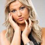 Beautiful blonde lady — Stock Photo
