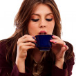 Stock Photo: Glamour businesswomwith coffee cup