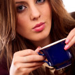 Glamour businesswoman with coffee cup — Foto Stock