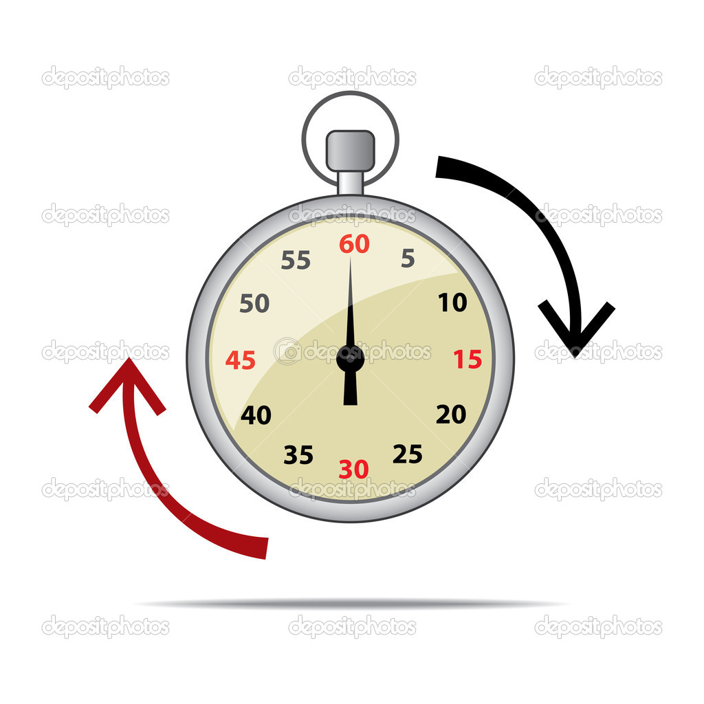 Vector illustration of a stopwatch. Alertness and passing of time concept.  Stock Vector #2882202