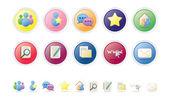 Social & Networking Vector Icon Set — Stockvector