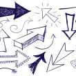 Doodle Arrows - Image vectorielle