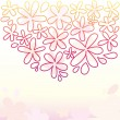Cute Floral Background - Grafika wektorowa