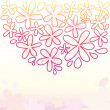 Cute Floral Background - Vektorgrafik