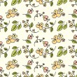 Seamless Flower Pattern - Grafika wektorowa