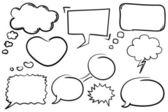 сообщения над аватарами — Cтоковый вектор