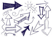 Doodle flechas — Vector de stock