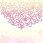 可爱花卉背景 — 图库矢量图片